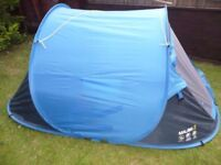 QUECHUA 2 SECONDS 2 PERSON CAMPING TENT - BLUE - only used once! (Price New: 45,-)