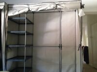 Triple canvas wardrobes x2