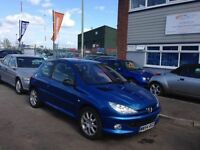 2004 54 Peugeot 206 1.6 Hdi Gti 110bhp 55+Mpg Leather Alloys Air con 12 Month Mot 3 Month Warranty