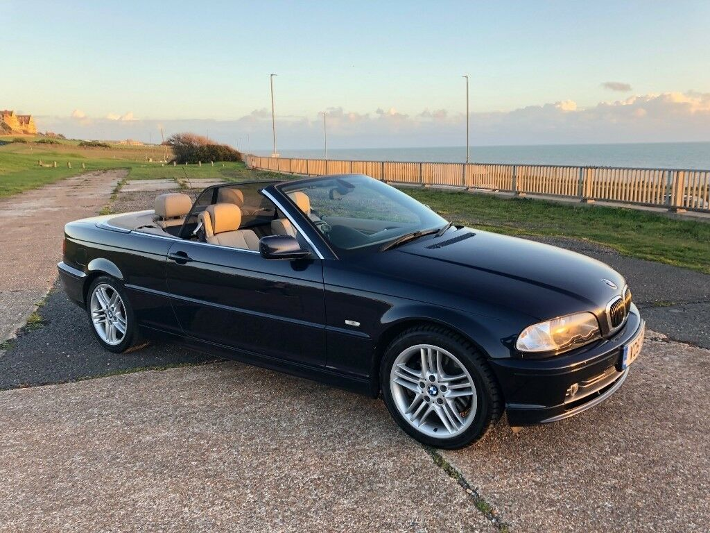 Bmw E46 330ci Convertible In Blue 134k Leather Electric Seats 10 Month Mot