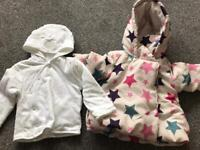 Cosy jacket and hooded jumper 6-9 months