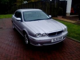 Jaguar X-Type. 4 door saloon. Reg. 2001. Low mileage below 70,000. No MOT
