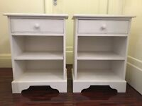 Bedside Table, White, Wood, High Quality, 2x