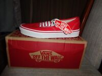 vans trainers red/white size 5 and a Half Brand new Boxed NEVER WORN