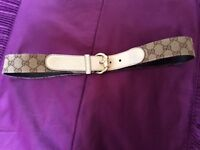 Genuine Woman's Gucci Belt with Gold Detail