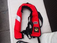 Lifejacket Life vest with safety harness marine sports ISO Security 150N hammar trigger mechanism