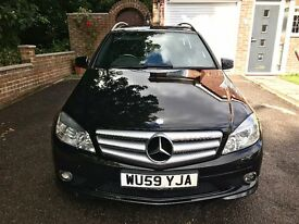 Mercedes-Benz C Class Estate AUTOMATIC BLACK 1.6L C180 BlueEFFICIENCY Kompressor Sport 5dr AMG pack