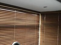 WOODEN VENETIAN BLINDS FOR BAY WINDOW