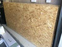 6 and 1/2 sheets (2.4mx1.4m) 22mm thick OSB 3 Structural Sterling board.