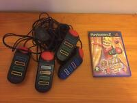 PlayStation 2 buzz game and controllers, kids game
