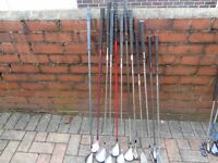 Job Lot of Various Right Handed clubs