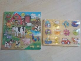 Two Wooden Toddler Puzzles - both Complete - Collection PE27 or can post for extra £3.20