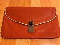 Dorothy Perkins Orange Clutch Bag - Brand New