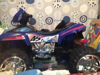 Boys electric quad bike only used once selling as to big to store as live in a flat