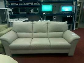 3 seaters leather sofa tcl 17296