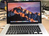 2013 MacBook Pro Retina 15.4 inch, 16MB RAM, 512GB SSD, excellent condition