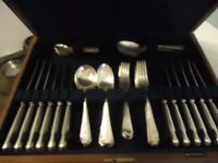 vintage walker and hall canteen of cutlery