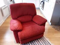 Comfy reclining armchair in excellent condition