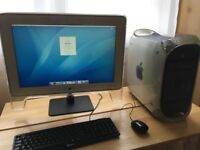 Apple Power Mac Pro G4 Macintosh + Apple Cinema HD 24 inch 1920x1200 rare