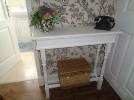 hand made console table