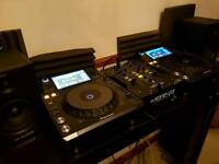Pioneer xdj 1000's, speakers , mixer , deckstand and cables