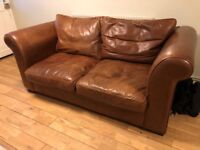 For Laura Ashley Leather Sofa Very Good Condition 150 Ono