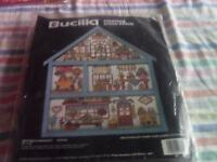 New counted cross stitch kit by Bucilla.Kit is called Potter's Paradise. with a 'Hutch' as a frame.