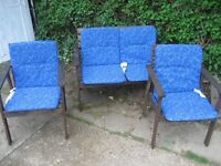IKEA Rasson Garden Bench and Chairs with Cushions