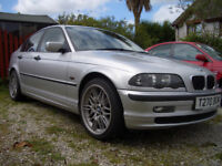 BMW 3 Series 318i SE Petrol Full Black Leather AC FSH Excellent condition SILVER St Austell Cornwall