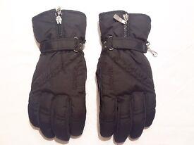 Nearly NEW - Women Ski Winter Gloves 'Snowlife' Black Size M