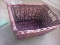 Not opened unused & wicker basket