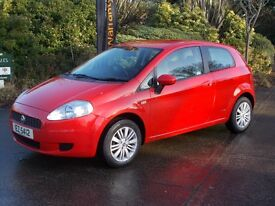 Fiat Punto Grande 1.2 Full Mot one years warranty 67000 dva warranted miles