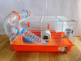 Ferplast Paula Hamster / Small Rodent Cage Complete With Tubes, House, Wheel and Accessories
