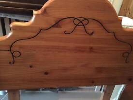 Single bed pine headboard