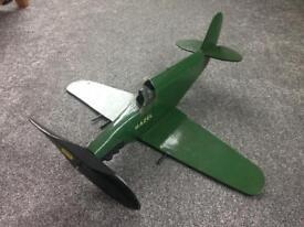 Vintage Retro Wooden Aeroplane Hand Home Made