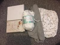 6x Moses basket/ jersey fitted sheets