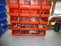 20 x Storage bins with contents.