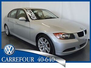 2007 BMW 323 i 6 Cyl. 2.5L Cuir+Toit Ouvrant Impeccable !!!