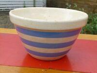 Vintage 1960s Striped Kitchen Bowl