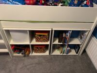 Cabin bed / High sleeper wooden bed with drawers - Cabin bed