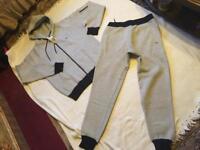 Brand new Lacoste men's tracksuit set slim jogger grey-black size L new £35