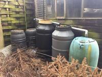 Various Garden Water Butts and garden Frame.