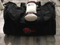 Eska Karate hold-all and sparring gloves
