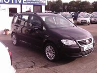 2010 VW TOURAN S TDI 105 7 SEATER 12 MONTHS M.O.T 6 MONTHS WARRANTY (FINANCE AVAILABLE)