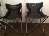 Two folding camping chairs (Meru)