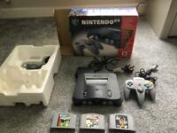Nintendo 64 console in the box , retro