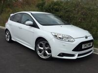 2012 FORD FOCUS ST-3, FROZEN WHITE, 1 OWNER FROM NEW