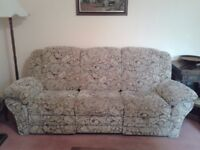 3 seater sofa + armchair.