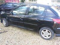 Spares or repair. Peugeot 206 1.4 55reg
