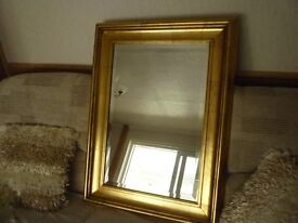 Mirror with Gold Frame Surround
